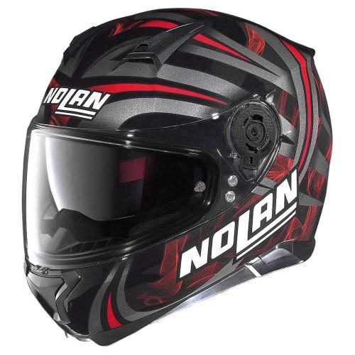 ΚΡΑΝΟΣ NOLAN N87 LEDLIGHT N-COM GLOSSY BLACK (30)