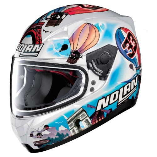 ΚΡΑΝΟΣ NOLAN N60-5 GEMINI REPLICA M. MELANDRI FRANCE metal white (38)
