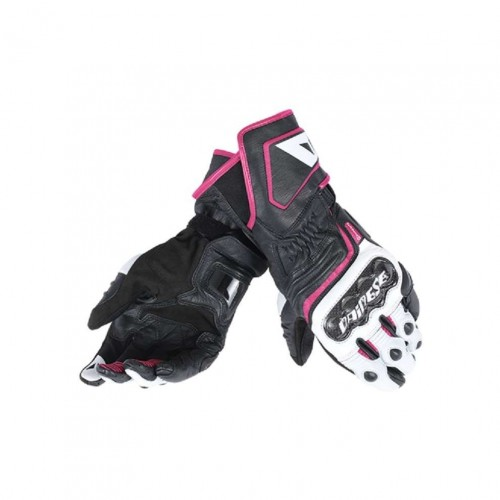 ΓΑΝΤΙΑ DAINESE CARBON D1 LONG LADY GLOVES(Black/white/fuchsia)