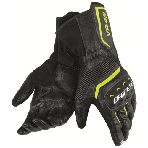 ΓΑΝΤΙΑ DAINESE ASSEN VR46 GLOVES(black/yellow fluo)