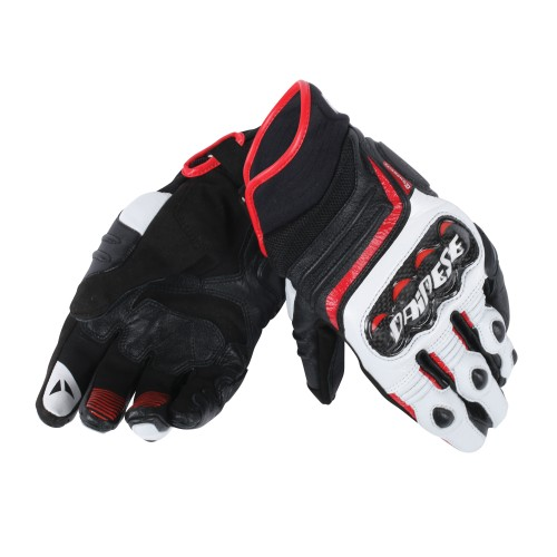 ΓΑΝΤΙΑ DAINESE CARBON D1 SHORT GLOVES(black/white/lava red)