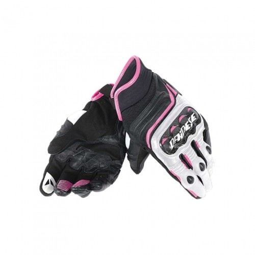 ΓΑΝΤΙΑ DAINESE CARBON D1 SHORT LADY GLOVES(black/white/fuchsia)