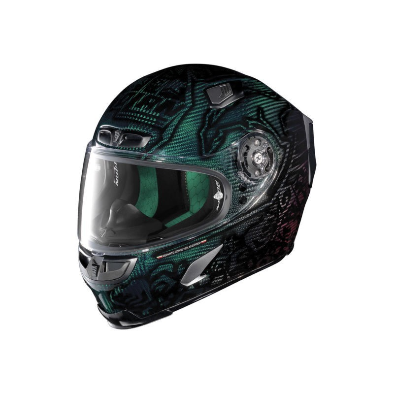 X-803 UC REPLICA C. STONER SUPERHERO - CARBON NUANCE GREEN/RED CARBON (18)