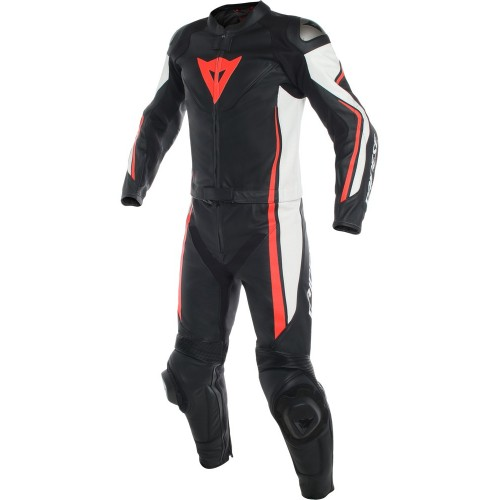 ΦΟΡΜΑ ΔΕΡΜΑΤΙΝΗ DAINESE ASSEN 2 PCS SUIT (black/white/fluo-red)