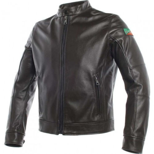 ΜΠΟΥΦΑΝ DAINESE AGV 1947 LEATHER JACKET (dark brown)