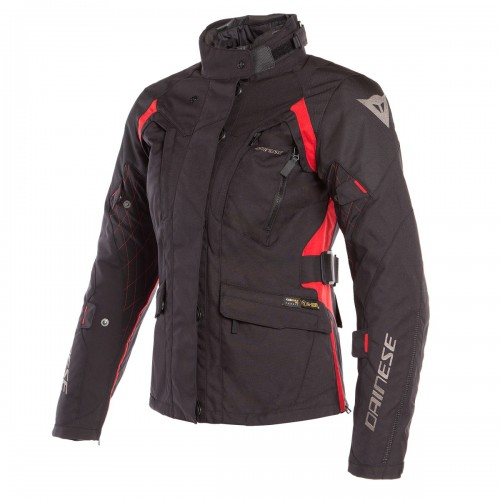 ΜΠΟΥΦΑΝ ΣΥΝΘΕΤΙΚΟ DAINESE X-TOURER D-DRY LADY JACKET(Black/Black/Tour-Red)