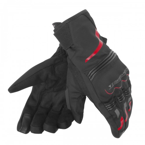 ΓΑΝΤΙΑ DAINESE TEMPEST UNISEX D-DRY® SHORT GLOVES( Black/Red)