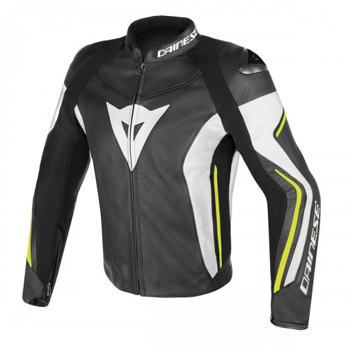 ΜΠΟΥΦΑΝ DAINESE ASSEN LEATHER JACKET(Black/White/Yellow-Fluo)