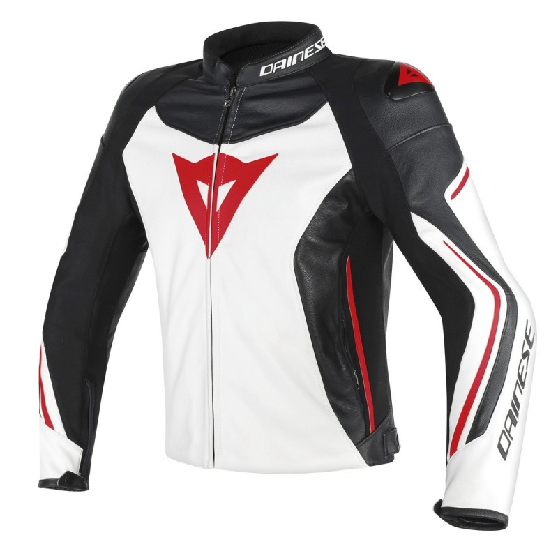 ΜΠΟΥΦΑΝ DAINESE ASSEN LEATHER JACKET(White/Black/Red-Lava)