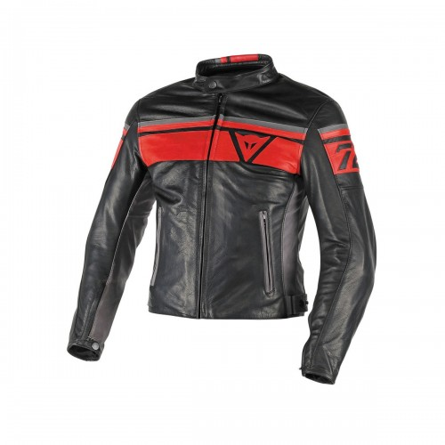 ΜΠΟΥΦΑΝ DAINESE BLACKJACK LEATHER JACKET(Black/Red/Smoke)