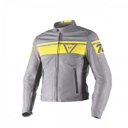 ΜΠΟΥΦΑΝ DAINESE BLACKJACK LEATHER JACKET(Smoke/Yellow/Black)