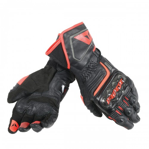 ΓΑΝΤΙΑ DAINESE CARBON D1 LONG GLOVES(Black/Black/Fluo-Red)