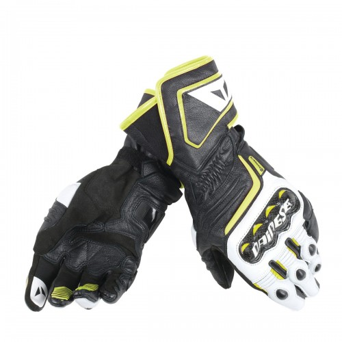 ΓΑΝΤΙΑ DAINESE CARBON D1 LONG GLOVES(Black/White/Fluo-Yellow)