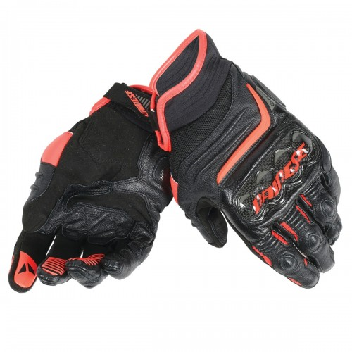 ΓΑΝΤΙΑ DAINESE CARBON D1 SHORT GLOVES(Black/Black/Fluo-Red)