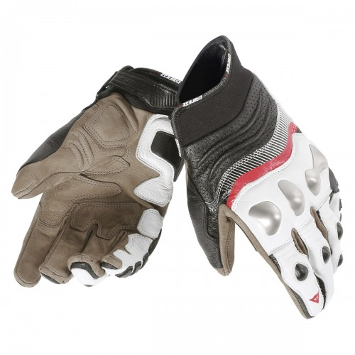 ΓΑΝΤΙΑ DAINESE X-STRIKE GLOVES (White/Lava-Red/Black)