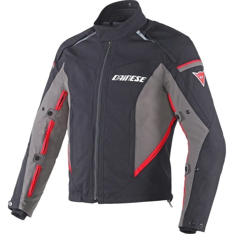ΜΠΟΥΦΑΝ DAINESE RAINSUN D-DRY ( black/dark-gull-gray/red )