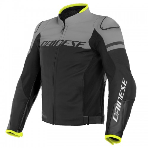 ΜΠΟΥΦΑΝ DAINESE AGILE LEATHER JACKET (Blackblack-Matt/Charcoal-Gray/Black-Matt)