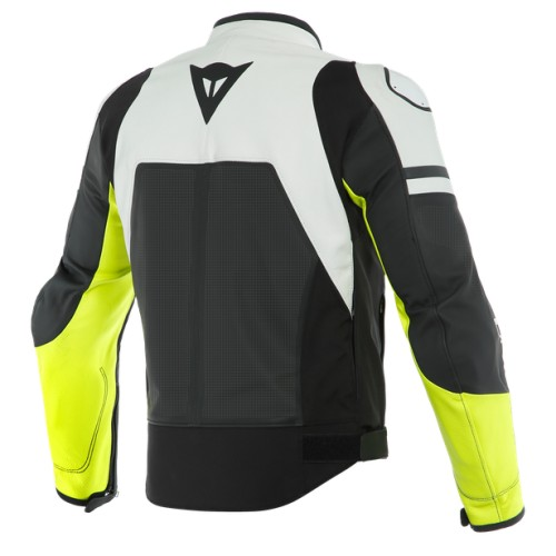 ΜΠΟΥΦΑΝ DAINESE AGILE PERF. LEATHER JACKET (Black-Matt/White/Fluo-Yellow)