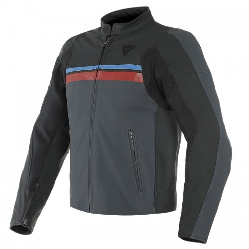 ΜΠΟΥΦΑΝ DAINESE HF 3 LEATHER JACKET (Black/Ebony/Red/Blue)