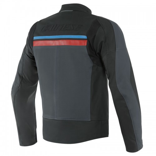 ΜΠΟΥΦΑΝ DAINESE HF 3 PERF. LEATHER JACKET (Black/Ebony/Red/Blue)