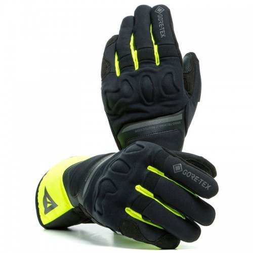 ΓΑΝΤΙΑ  DAINESE  NEMBO GORE-TEX GLOVES+GORE GRIP TECHNOLOGY (Black/Fluo-Yellow)