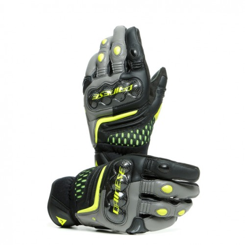 ΓΑΝΤΙΑ DAINESE CARBON 3 SHORT GLOVES Black/Charcoal-Gray/Fluo-Yellow)
