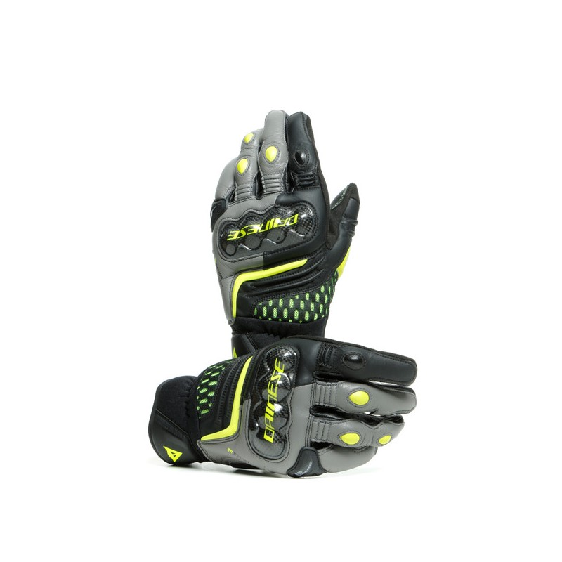 ΓΑΝΤΙΑ DAINESE CARBON 3 SHORT GLOVES (Black/Charcoal-Gray/Fluo-Yellow)